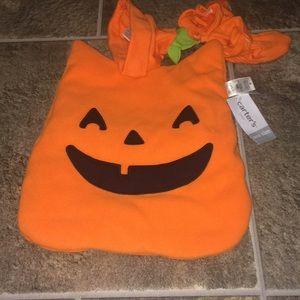 Carters baby pumpkin costume